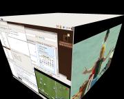 Cube avec vidéo plein-écran